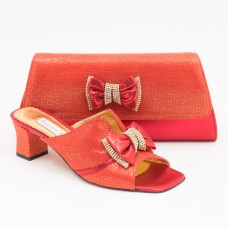 SL355 - Red Shoes and Bag SET