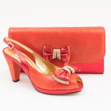 SL356 - Red Shoes and Bag SET