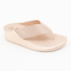 TL077 - Fitflop Crystall Toepost Rosegold