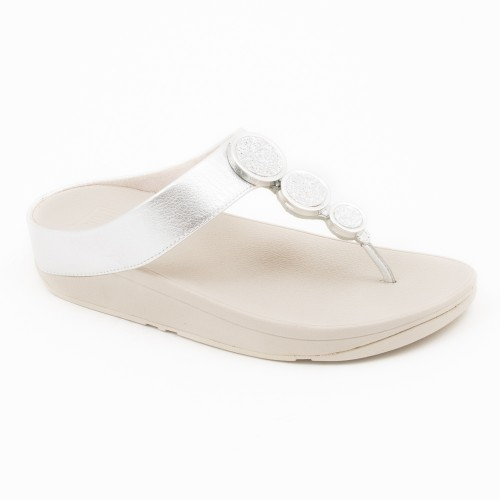 TL332 - Fitflop Halo Sandal Silver